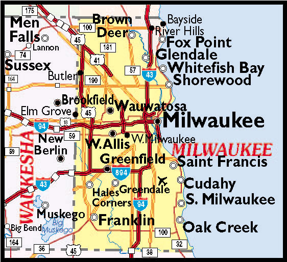 Map Of Milwaukee Suburbs Submited Images