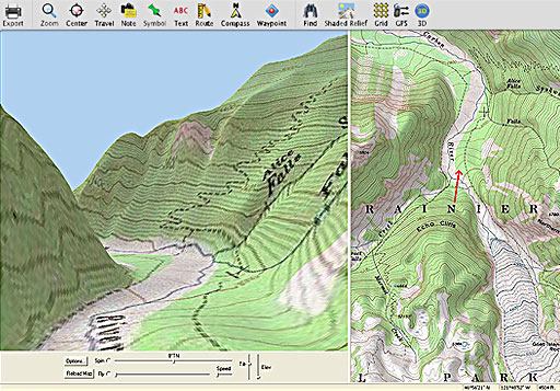 Seamless 1:24000 and 1:100000 scale USGS topographic maps