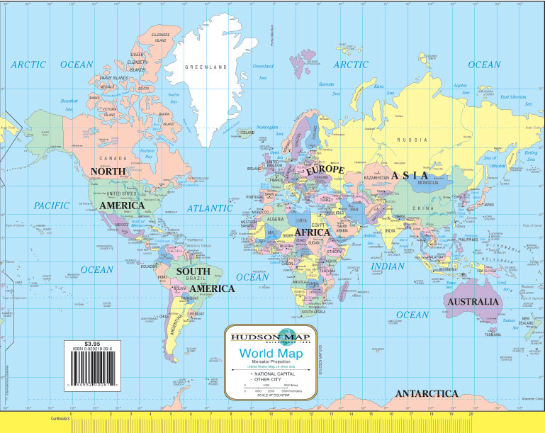 hudson s u s and world notebook map